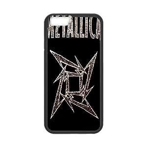 Bloomingbluerose Metallica IPhone 6 Plus Case Metallica Logo, {Black}