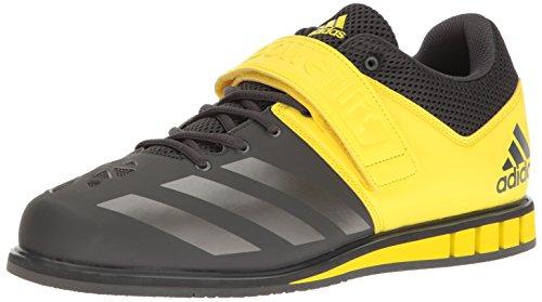 adidas Performance Men's Powerlift.3 Cross-Trainer Shoe, Dark Grey Heather Solid Grey/Night Metallic Lemon Peel, 13 M US