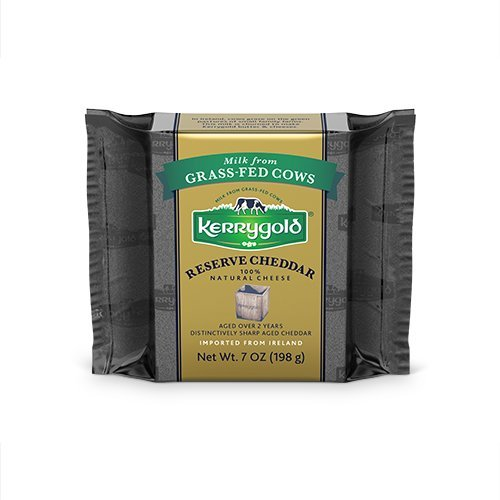 Kerrygold Reserve Cheddar Aged 2 Years, 7 Ounce All-Natural Irish Cheddar Made with Milk from Grass-Fed Cows ()
