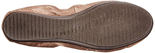 Spirit Multi Women's Fabric Easy Ballet Gessica Dark Taupe Flat qwUwdCBx4