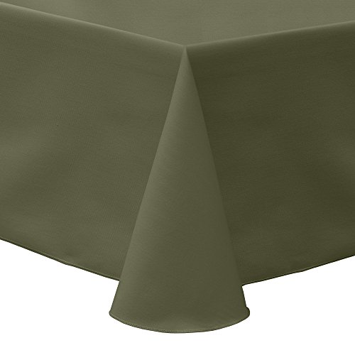 - Ultimate Textile Poly-Cotton Twill 52 x 70-Inch Oval Tablecloth Olive Green