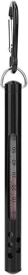 Keenso Wassertemperaturmesser Outdoor Metall Fliegenfischen Wasserstrom Thermometer Angelzubeh/ör
