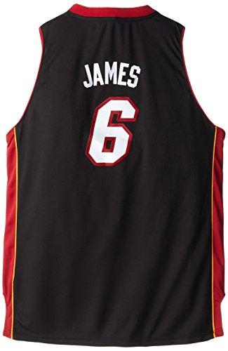 NBA Miami Heat LeBron James Swingman Road Youth Jersey, Black, X-Large