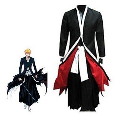 HOLRAN Bleach Ichigo Bankai Costume Set, Black, XL -
