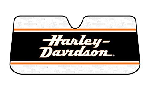 Harley-Davidson Sun Shade, Stacked HD Text Accordion Style Universal Fit 3726 (Harley Sun Shade)