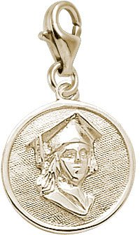 rembrandt-charms-girl-with-graduation-cap-on-disc-charm-with-lobster-clasp-10k-yellow-gold