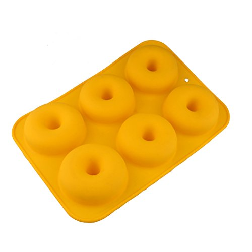 FantasyDay Large Donut Mold Silicone Biscuit Mold for Your Doughnut, Donut, Cookie, Muffin, Bagels and More -
