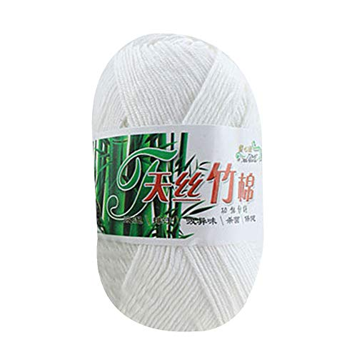 Yarn Soft Comfortable 50g Bamboo Cotton Worsted-Tencel Bamboo Cotton Woven Wool