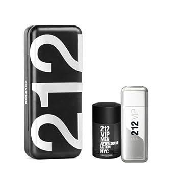 0f578768de Amazon.com : Carolina Herrera 212 Vip Gift Set for Men (Eau de Toilette  Spray, After Shave Lotion) : Fragrance Sets : Beauty