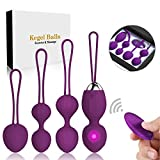 5 in 1 Kegel Balls for Women Tightening & Beginners,Set of 5 Ben Wa Balls Kegel Exercise Weights Products- Doctor Recommended for Bladder Control & Pelvic Floor Advanced Exercises(Purple)