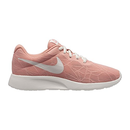 NIKE Womens Tanjun SE Running Shoes Coral Stardust/Sail Deal (Large Image)