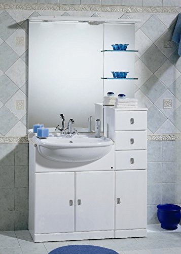 Mobile Bagno Con Lavandino Semincasso.Mobile Arredo Bagno Cm 70 30 Con Lavabo Lavandino Semincasso Bianco