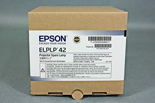 - Epson Elplp42 - Projector Lamp - E-Torl Uhe - 170 Watt - 3000 Hour(S) (Standard Mode) / 4000 Hour(S) (Economic Mode) - For Eb 410, Emp 280, 400, 822, 83, Powerlite 400, 410, 822, 83