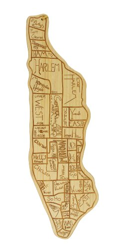 City Gift (Totally Bamboo City Life Serving Board, Manhattan, 100% Bamboo Board for Serving and Entertaining)