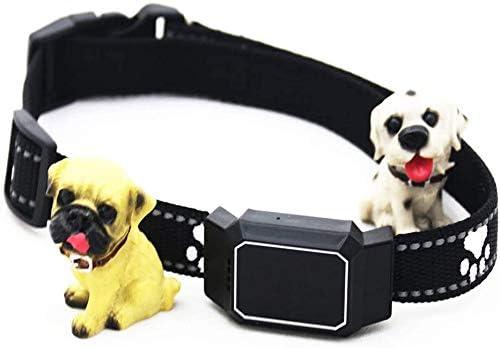 青い犬や猫のための耐性リアルタイム無線、IP67の防水GPSトラッカー光と水のないミニGPSトラッカーペット,黒