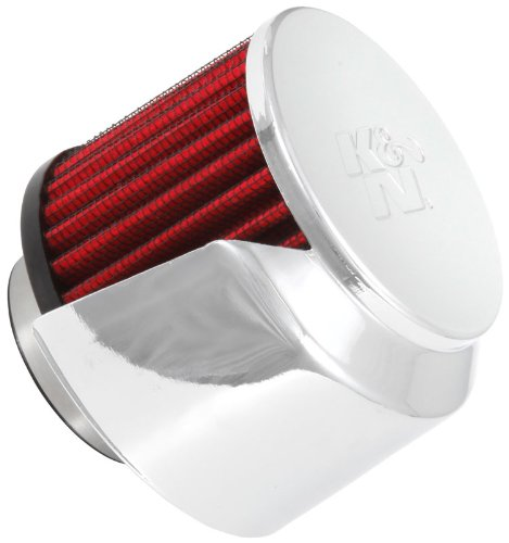K&N 62-1514 Vent Air Filter / Breather: Vent Air Filter/ Breather; 1.5 in (38 mm) Flange ID; 2.5 in (64 mm) Height; 3 in (76 mm) Base; 3 in (76 - Cap Breather Air