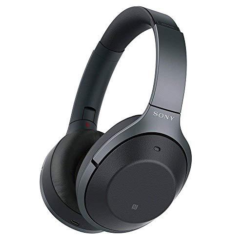 소니 SONY 무선 노이즈 캔슬링 헤드폰 WH-1000XM2 B ,블루투스  고해상도 최대 30 시간 연속 재생 밀폐형 마이크가있는 2017 년 블랙