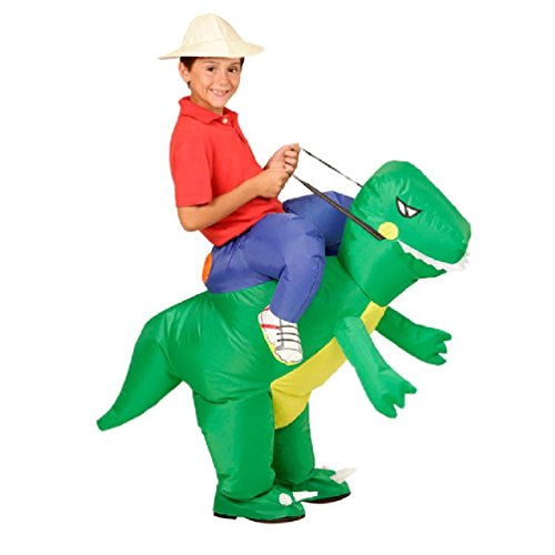 Rider Horse Inflatable Costume (Purim Costumes Airblown Fan Operated T-Rex Inflatable Dinosaur Suit Outfit Costume For Kids And Adults Dino)