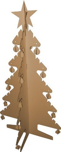 Kid-Eco 3D Christmas Tree Brown - by Kideco by Kid-Eco