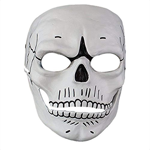 James Bond Skull Skeleton Full Face Mask Cosplay Spectre 007 Film Novelty Creepy Gift for Halloween Party Costume Decorations -