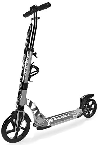 EXOOTER M1950 8XL Manual Adult Cruiser Kick Scooter with Dual Suspension Shocks and 240mm 200mm Big Wheels.