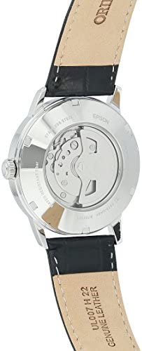 Orient Men s 2nd Generation Esteem Japanese Automatic Stainless Steel and Leather Dress Watch