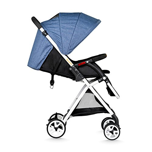 Besrey BR-C703S Lightweight Baby Stroller Foldable Lightweight Stroller,Infant Adjustable Pushchair Pram with Storage Basket,for 0-36 Months(Blue)