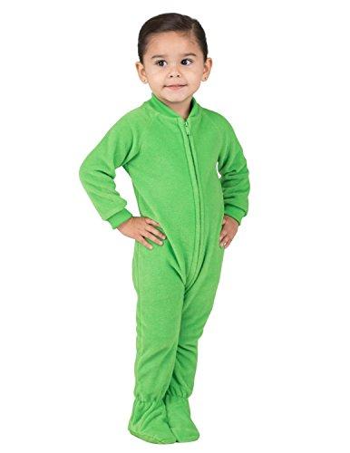 Footed Pajamas - Emerald Green Infant Fleece - Medium