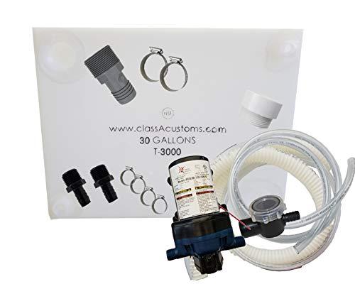 Class A Customs 30 Gallon Water Tank & Plumbing Kit & WFCO 12 Volt Pump T-3000-BPK-12WFCO ()