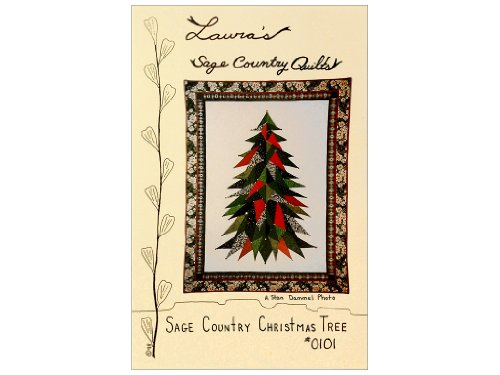 Sage Country Christmas Tree Wall Quilt 43