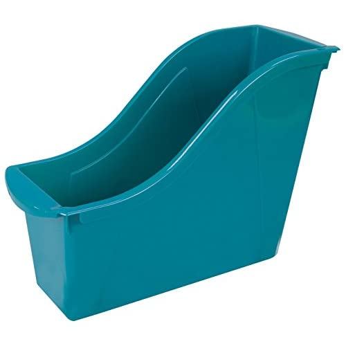 "Storex Small Book Bin, 11.75 x 4.5 x 8.5"", Teal, Case of 6 (71114U06C)"