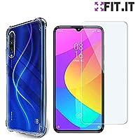[FIT.IT] Kit Capa Anti Impactos Case Antiqueda Xiaomi Mi A3 + Película Gel Flexível Slim Transparente