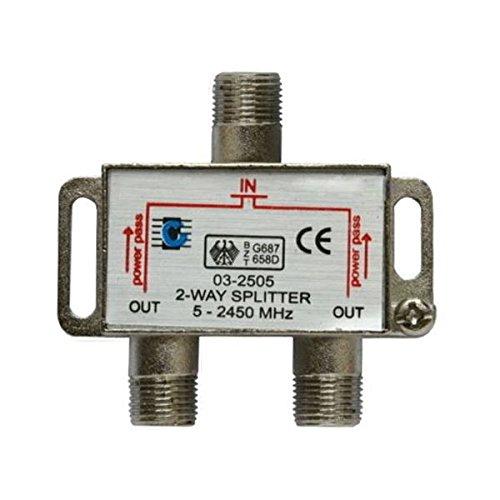 Sat Splitter - SODIAL(R) 2-way splitter 5-2450MHz Outputs Antenna DTV TV SAT Direction Splitter
