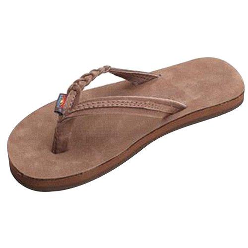 Rainbow Girls Sandals (Rainbow Sandals Girls Flirty Braidy Esspresso Leather Sandals 11 M US Little Kid)