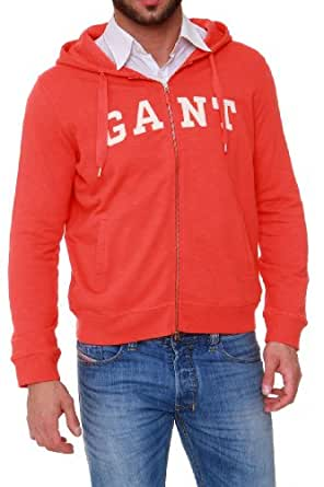 GANT Zip Through Hooded Sweatshirt TRACKSUIT HOOD, Color: Light Red, Size: XXL