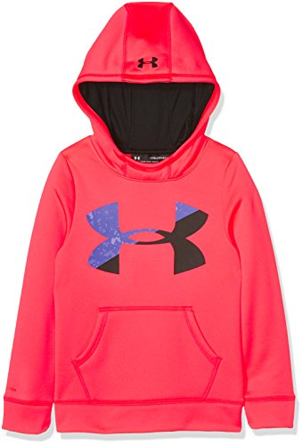 Under Armour Kids Girl's Armour Fleece Big Logo Hoodie (Big Kids) Penta Pink/Black Sweatshirt