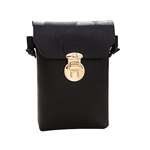 Fashion squarex Hasp Bag Cover Crossbody Black Shoulder Bag Women Solid Bag Coin Phone AWq1c5q