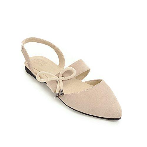 BalaMasa Womens Sandals Closed-Toe No-Closure Not_Water_Resistant Huarache Sandals ASL04712 Beige