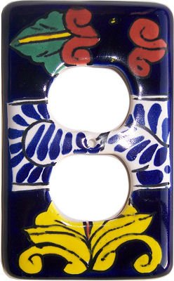 Ceramic Talavera Switch (Outlet Marigold Talavera Switch Plate)