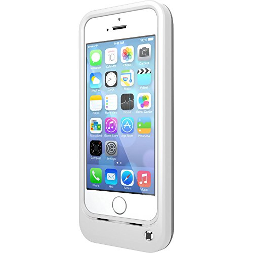 OtterBox Resurgence Power/Battery Case for Apple iPhone 5s - Retail Packaging - Glacier White/Gunmetal Grey