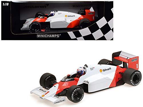 (McLaren TAG MP4/2C #1 Alain Prost Shell World Champion (1986) 1/18 Diecast Model Car by Minichamps)