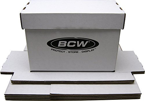 (5) BCW Brand SHORT Comic Storage Box - Holds 150 - 175 Comic Books - CXBCSHORT by BCW Diversified