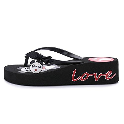Spiaggia Estate Antiscivolo Nero Black Pantofole Infradito Estate Rosso Panda DANDANJIE da Bianco Ragazza Casual Infradito Donna indossabili Scarpe Pantaloncini Pantofole q0ZFt