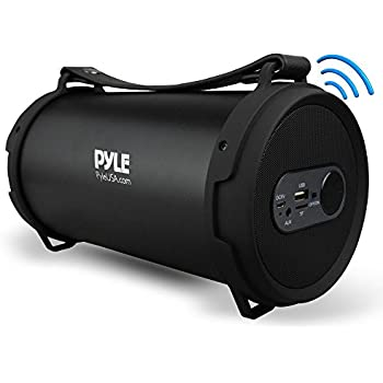 Pyle Portable Speaker, Boombox, Bluetooth Speakers, Rechargeable Battery, Surround Sound, Digital Sound Amplifier, USB/SD/FM Radio, Wireless Hi-Fi Active ...