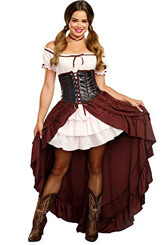 Dreamgirl Women's Saloon Gal Authentic Wild West