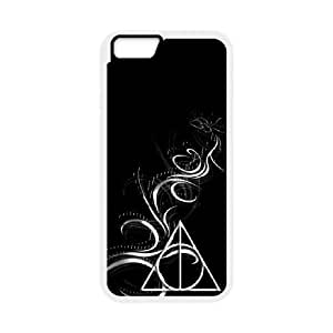 iPhone 6 4.7 Inch Cell Phone Case White Deathly Hallows Fqxr