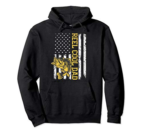 REEL COOL DAD Fishing Father's Day Gift Hoodie 4th of July