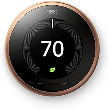 Nest 3rd Generation Learning Thermostat + Google Home Mini