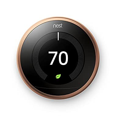 Nest Learning Thermostat 3rd Generation, Copper, Works with Amazon Alexa