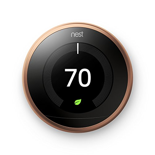 (Nest T3021US Learning Thermostat, Easy Temperature Control for Every Room in Your House, Copper (Third Generation), Works with Alexa Small)
